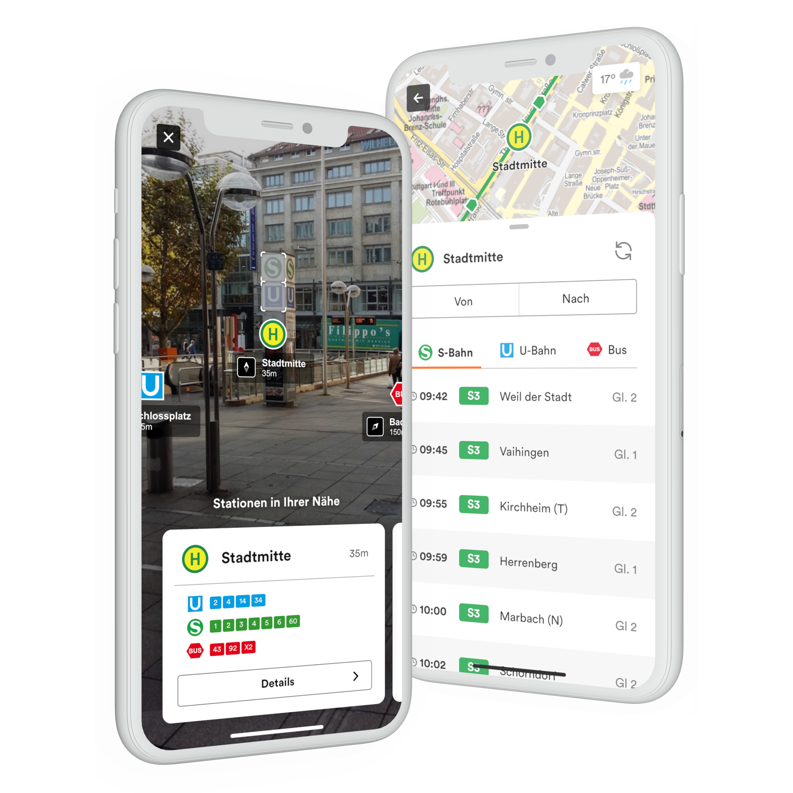 Live Vehicle Positions & AR Wayfinding